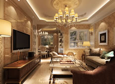 明快简约欧式风格127平米三居室