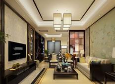 花香鸟语138平米中式风格参考