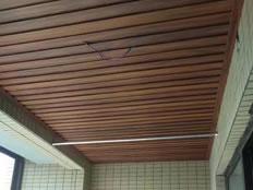 成都江水平装修队生态木顶施工效果图