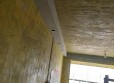 空港国际木作吊顶施工中