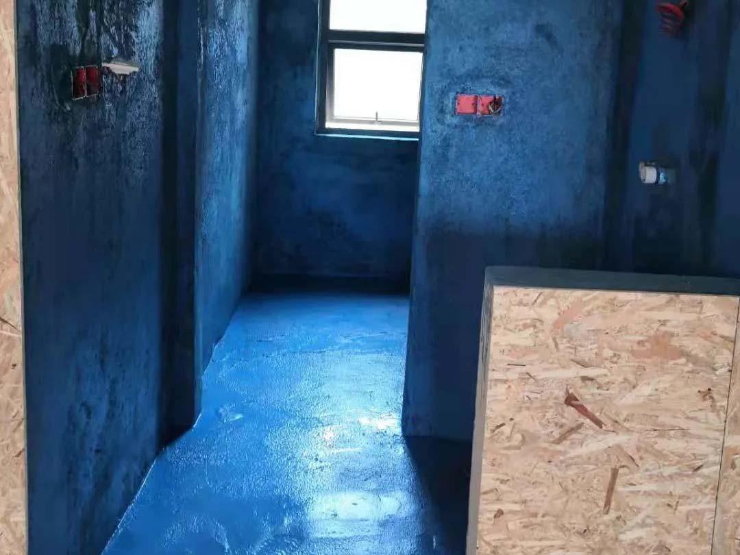 成都装修工地南湖国际中心,厨卫防水施工完毕