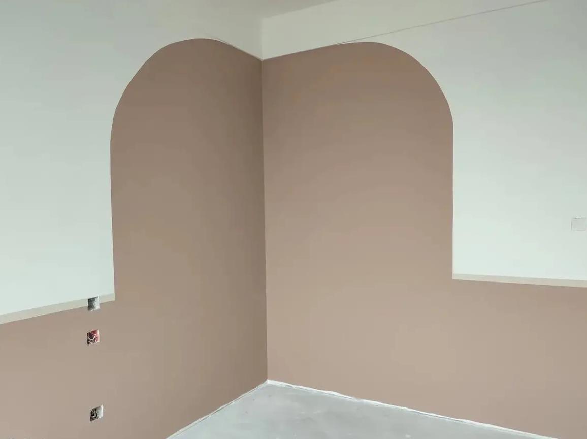 成都装修工地长虹天越,墙面乳胶漆施工完毕