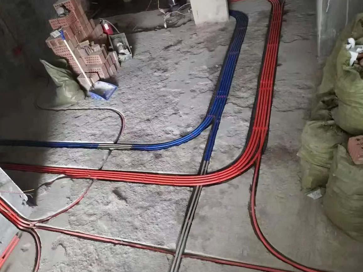 成都装修工地御景台,水电改造施工现场