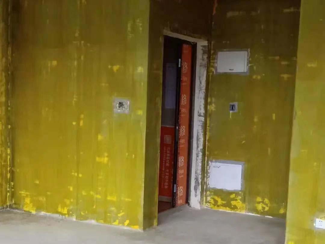 成都装修工地中南樾府,墙体打拆施工结束