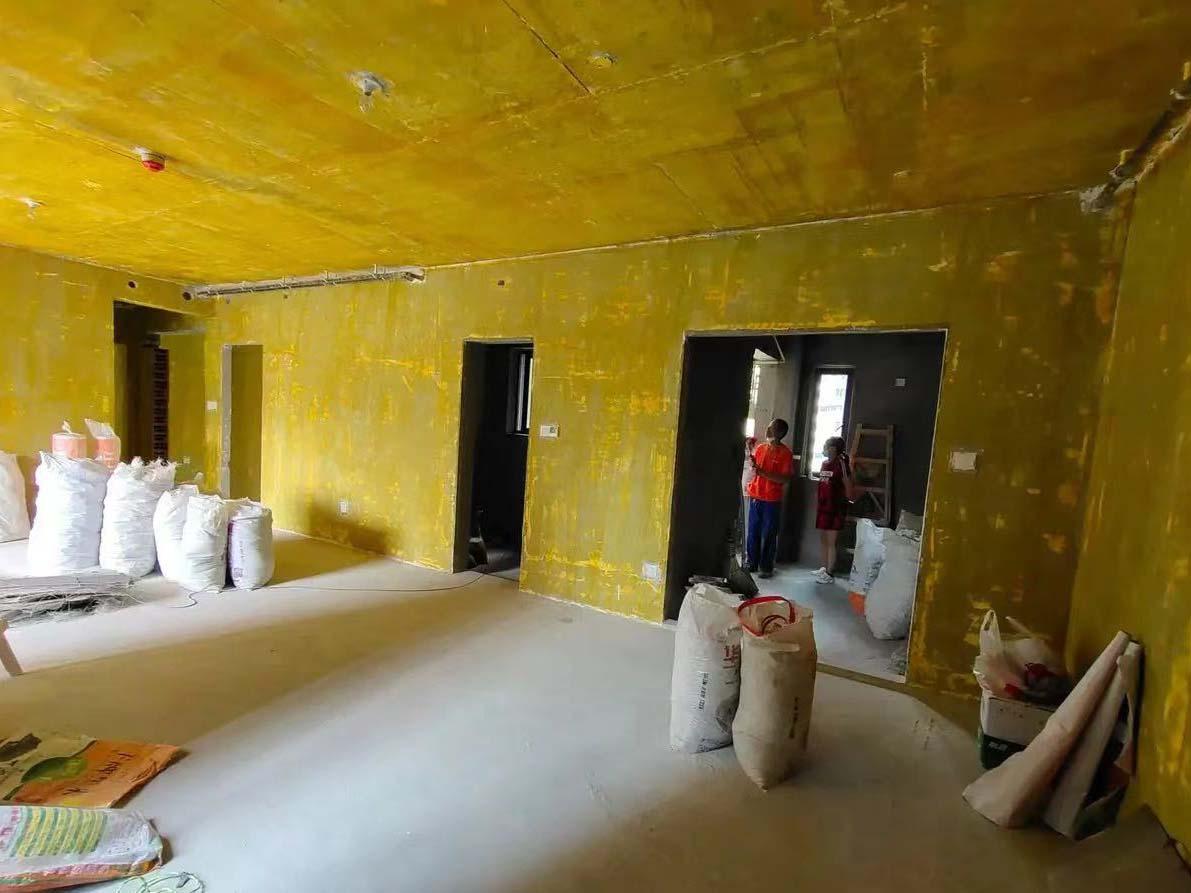 成都装修工地凯德世纪名邸,墙体打拆结束