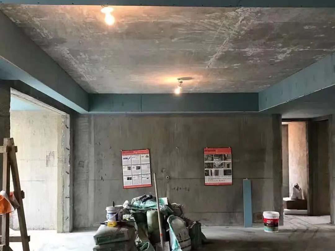 成都装修工地三里花城,木作吊顶施工现场